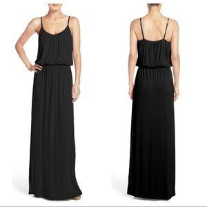 Felicity & Coco Black Jersey Blouson Maxi Dress